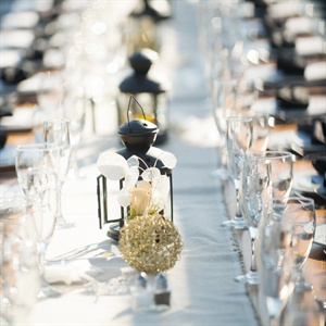 Black Lantern Table Decor