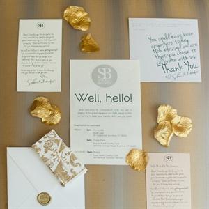 White Invitation Set