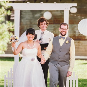 Simple White Ceremony Arch