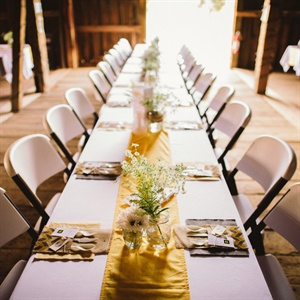 Simple Yellow & White Tablescapes