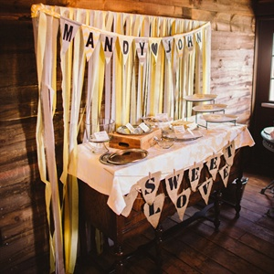 Burlap Bunting Dessert Table