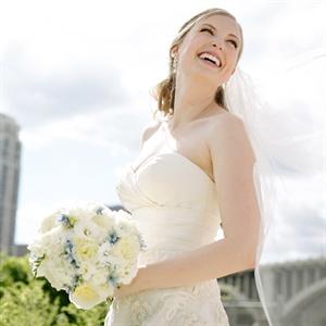 White & Blue Bridal Bouquet