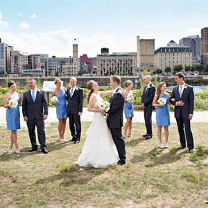 Gray and Blue Wedding Party Style