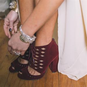 Edgy Maroon Heels