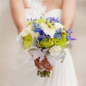 Green & Blue Bridal Bouquet