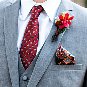 Mismatched Tie and Pocket Square