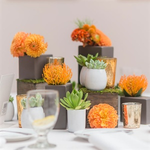Orange and Green Table Decor