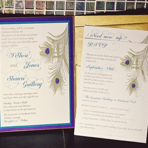 Peacock Feather Invitations