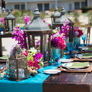 Bright Centerpieces with Lanterns