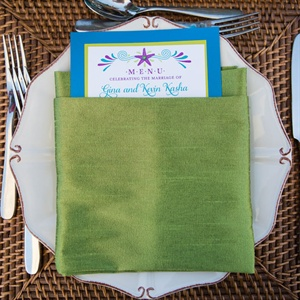 Green and Blue Table Settings