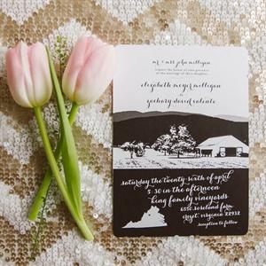Black & White Illustrated Invitations