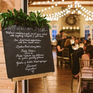 Chalkboard Calligraphed Menu Sign