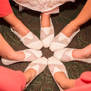 Ivory Lace TOMS Bridesmaid Shoes