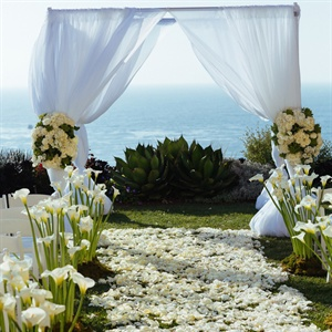 Flower Petal Ceremony Aisle