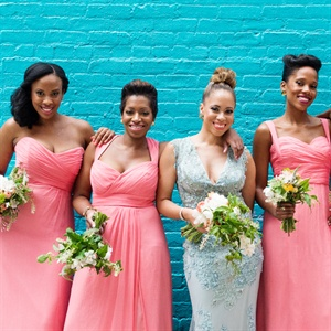 Pink Bridesmaid Look