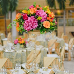 Hydrangea and Rose Centerpieces
