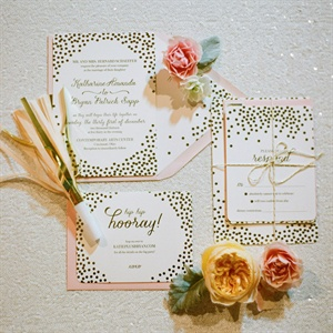 Confetti Inspired Invitation Set