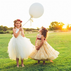 Balloon-Holding Flower Girls