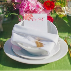 Watercolor Menu Cards