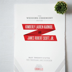White and Red Invitations