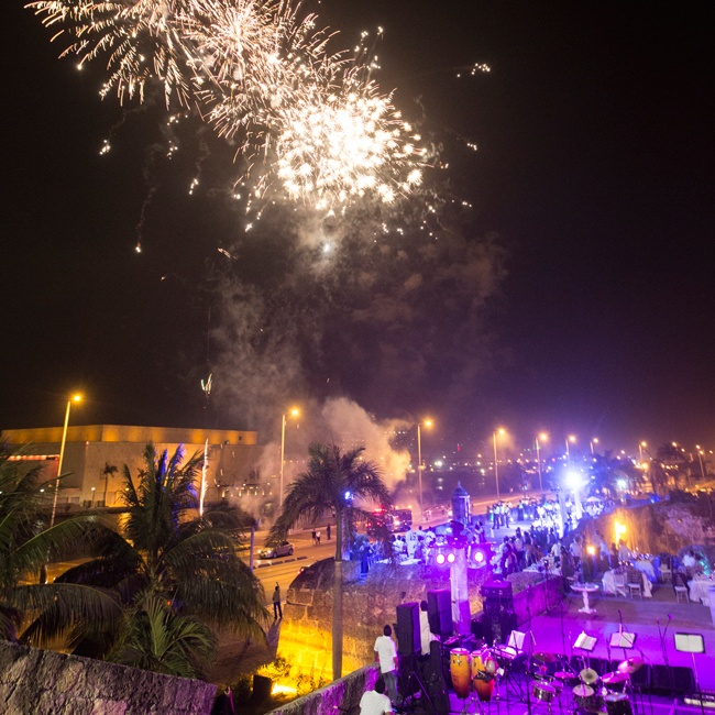 "A festive fireworks display kicked off ""La Hora Loca"" (or crazy hour), a Latin tradition, where the party transitions into a high energy celebration."