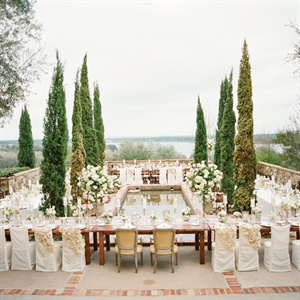 Tuscan-Inspired Outdoor Reception