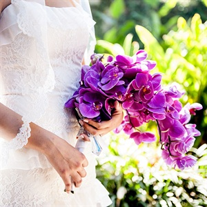 Vibrant Purple Orchid Bouquet