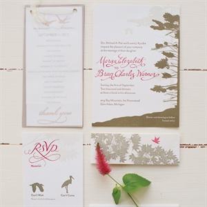 Custom Letterpress Invitation Suite