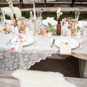 Lace Reception Decorations