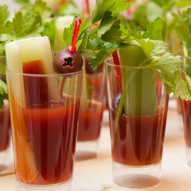 Guests were treated to a bloody mary bar among other beverages at the reception and cocktail hour.