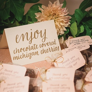 Chocolate Covered Cherry Favors