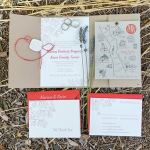 Rustic Red Invitation Suite