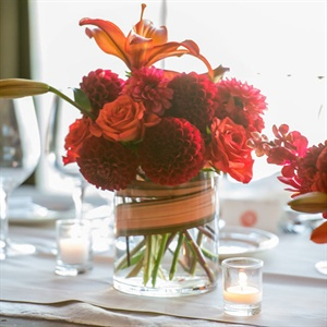 Dahlia and Lily Centerpieces