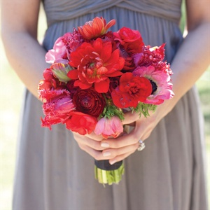Red Bridesmaid Bouquet