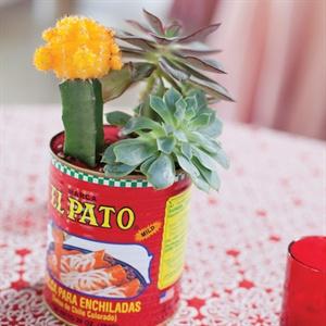 Canned Cactus Centerpieces