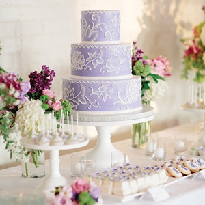 Lavender and White Wedding Cake