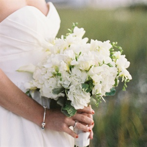 White Stock and Hydrangea Bouquet