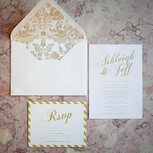 Formal Golden Invitations