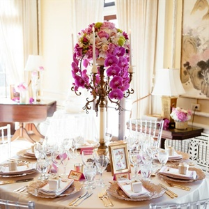 Cascading Orchid Centerpieces