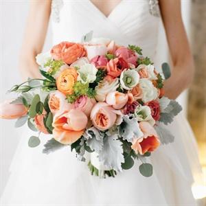 Oversize Peach Bridal Bouquet