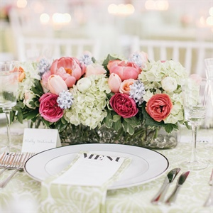 Low Pink Centerpieces