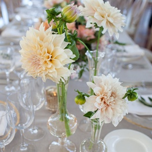 Romantic Dahlia Centerpieces