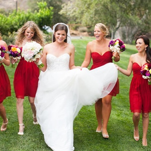 Red Bridesmaid Look