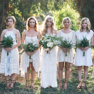 Mismatched Bohemian Bridesmaid Dresses