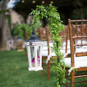 Lantern-Lined Ceremony Aisle