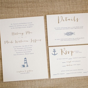 Nautical Themed Invitation Suite