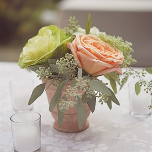 Peach Rose Centerpieces
