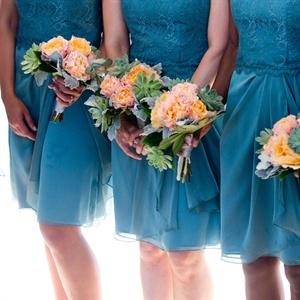 Pastel Bridesmaid Bouquets