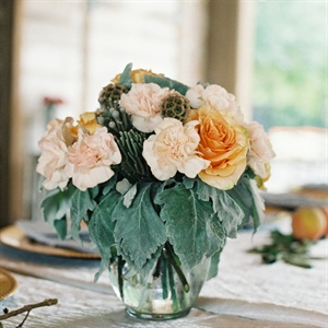 Carnation, Rose and Berzelia Centerpieces