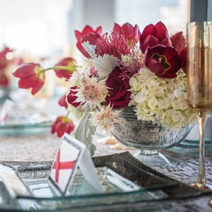 Red Poppy Centerpieces